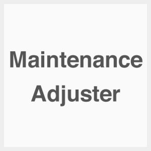 Maintenance-adjuster